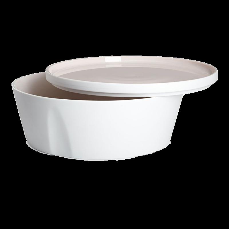 Degrenne / gerade Schale und Teller – 18 cm – 1,3 l