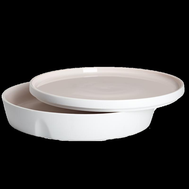 Degrenne / gerade Schale und Teller – 24 cm – 1,3 l