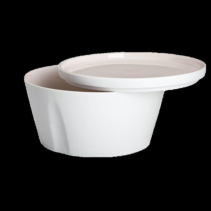 Degrenne / gerade Schale und Teller – 24 cm – 2,6 l